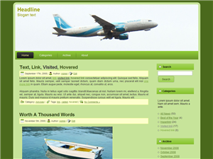 screenshot travelgreen free wordpress theme
